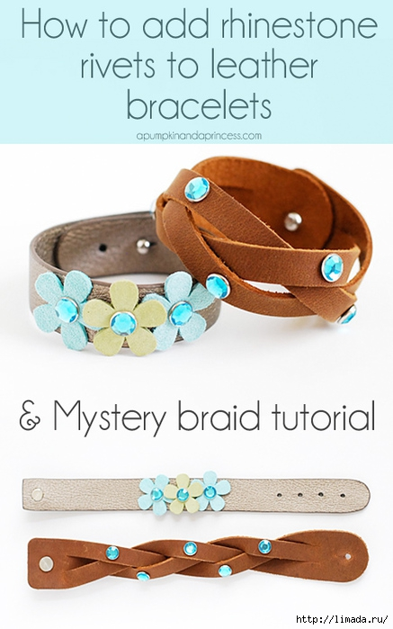 How-to-add-rhinestone-rivets-to-leather-bracelets (437x700, 171Kb)