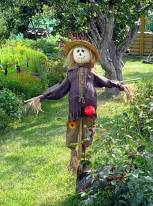 Sitting Garden Lady Scarecrow 6