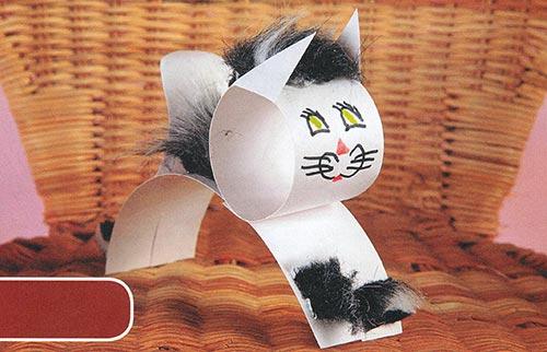 Кошка и мышка из бумаги своими