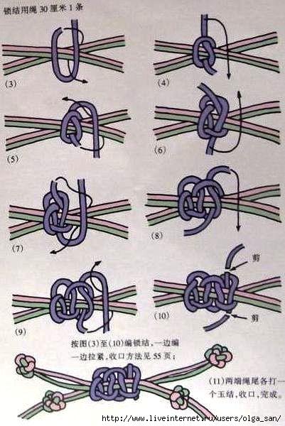 Как сделать застёжку на фенечку из ниток