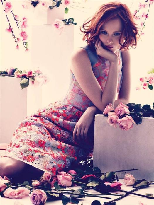 Karen Elson модная фотосессия (525x700, 266Kb)