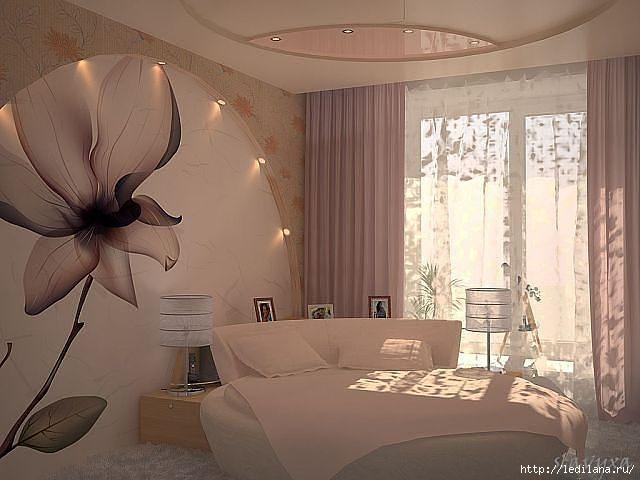 спальня с цветком (640x480, 121Kb)