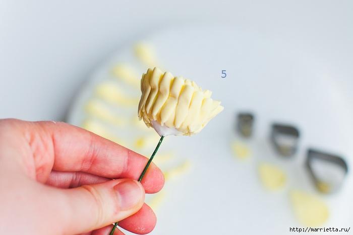 Хризантемы и георгины из сахарной мастики для украшения торта (1) (700x465, 94Kb)