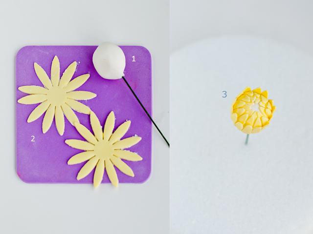 Хризантемы и георгины из сахарной мастики для украшения торта (3) (640x480, 295Kb)