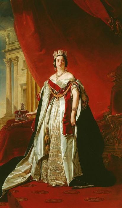 Франц Винтельхальтер. Портрет королевы Виктории, 1843 (412x700, 74Kb)