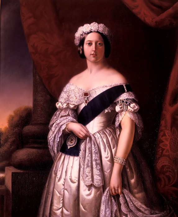 Alexander Melville. Портрет королевы Виктории, 1845 (573x700, 95Kb)