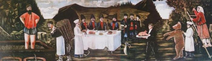 Кутеж во время сбора винограда, 1906 (700x202, 30Kb)