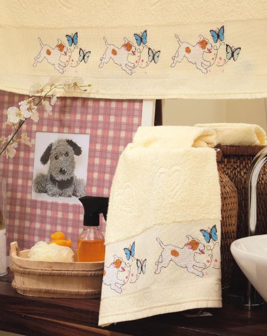 Вышивка для детского полотенца. Схема собачек (530x666, 671Kb)
