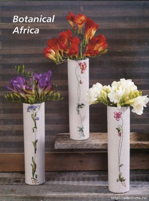 Отличный журнал вышивки Marie Barber - Cross-Stitch Florals (2) (518x700, 311Kb)