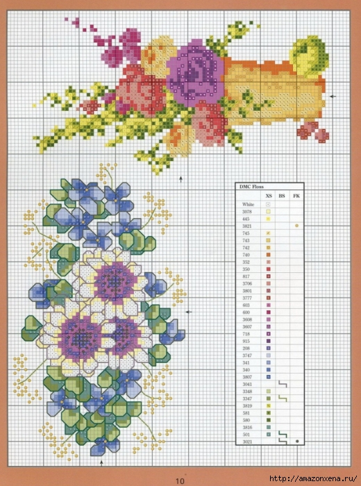 Отличный журнал вышивки Marie Barber - Cross-Stitch Florals (4) (520x700, 334Kb)