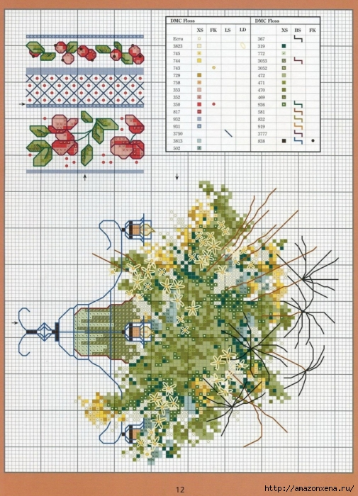 Отличный журнал вышивки Marie Barber - Cross-Stitch Florals (6) (505x700, 336Kb)