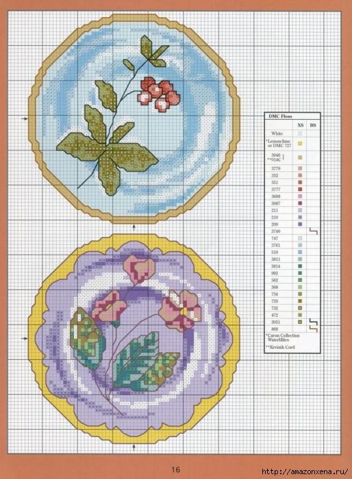 Отличный журнал вышивки Marie Barber - Cross-Stitch Florals (10) (514x700, 316Kb)