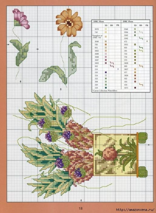 Отличный журнал вышивки Marie Barber - Cross-Stitch Florals (12) (515x700, 316Kb)