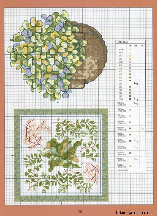 Отличный журнал вышивки Marie Barber - Cross-Stitch Florals (14) (507x700, 331Kb)