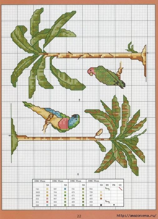 Отличный журнал вышивки Marie Barber - Cross-Stitch Florals (16) (505x700, 311Kb)