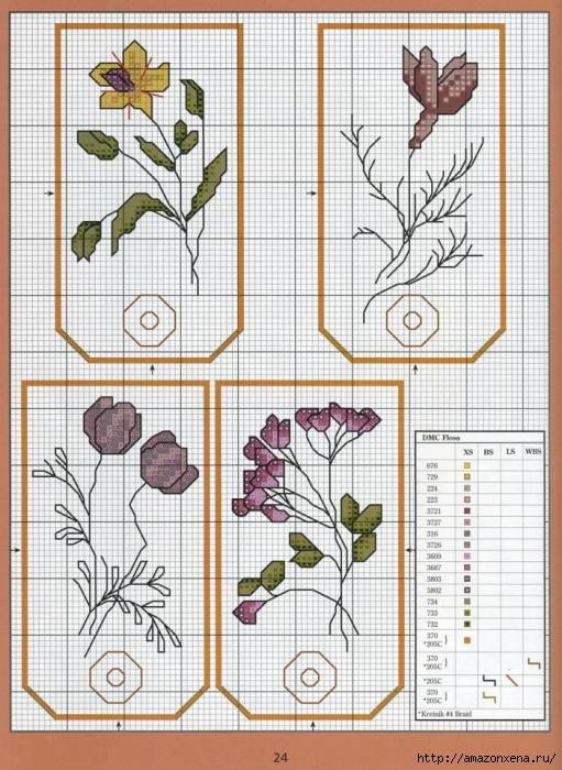 Отличный журнал вышивки Marie Barber - Cross-Stitch Florals (18) (511x700, 323Kb)