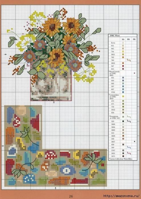 Отличный журнал вышивки Marie Barber - Cross-Stitch Florals (20) (495x700, 323Kb)