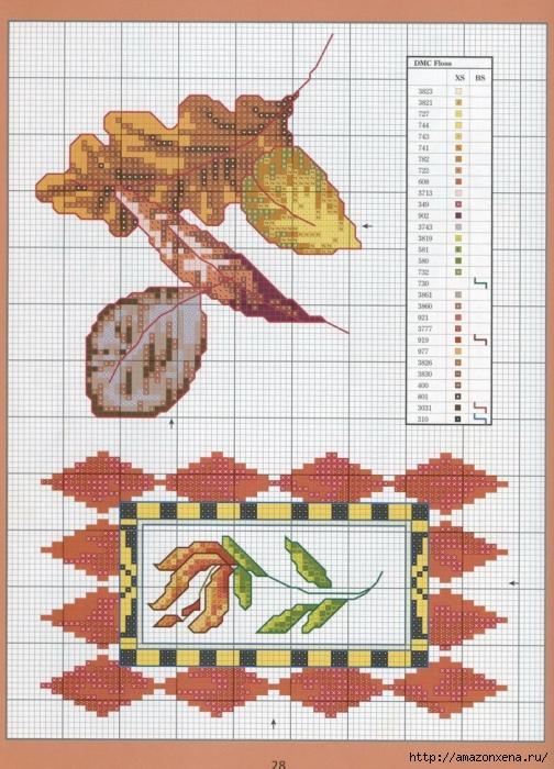 Отличный журнал вышивки Marie Barber - Cross-Stitch Florals (22) (504x700, 320Kb)