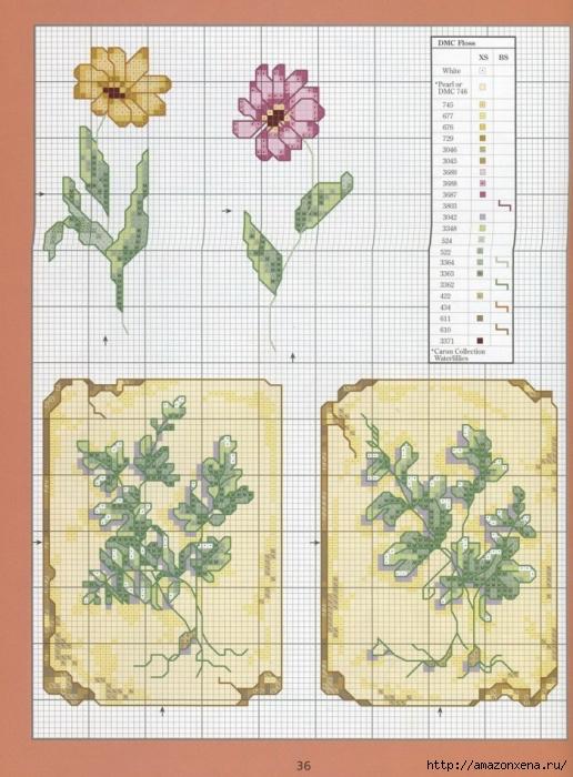 Отличный журнал вышивки Marie Barber - Cross-Stitch Florals (30) (516x700, 301Kb)