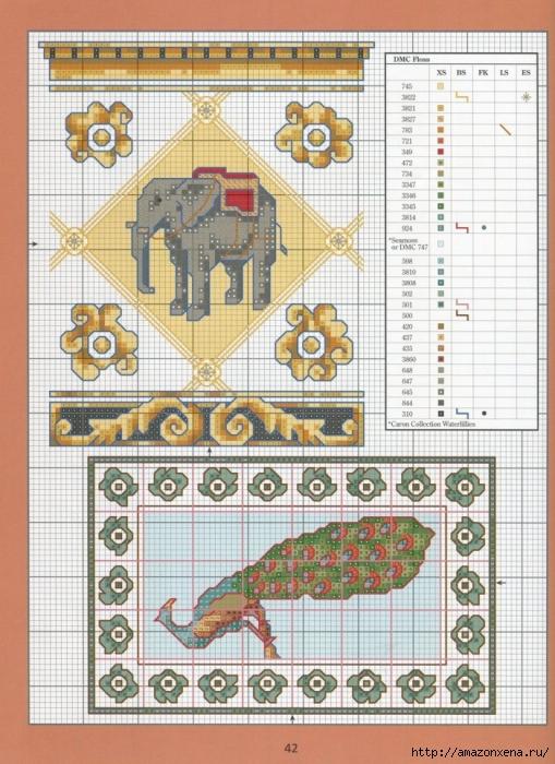 Отличный журнал вышивки Marie Barber - Cross-Stitch Florals (36) (509x700, 328Kb)