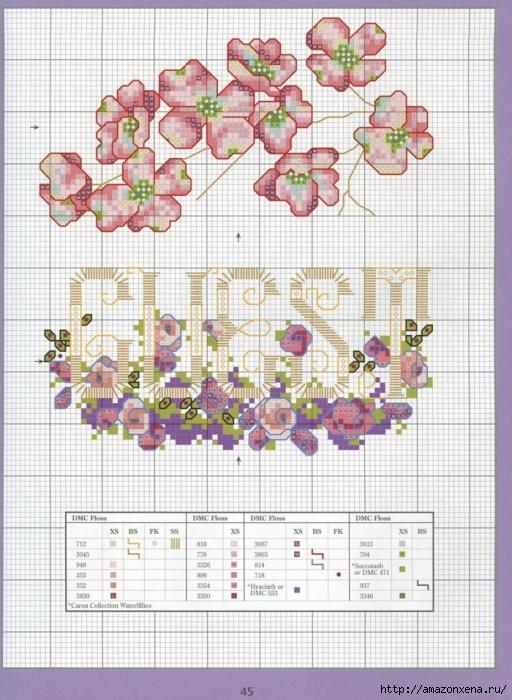 Отличный журнал вышивки Marie Barber - Cross-Stitch Florals (39) (512x700, 307Kb)