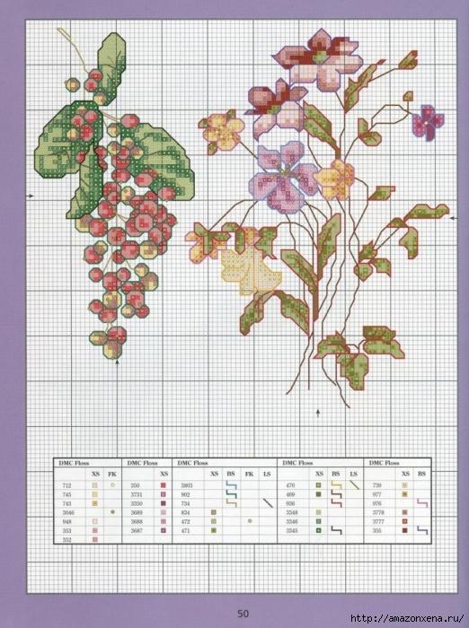 Отличный журнал вышивки Marie Barber - Cross-Stitch Florals (44) (522x700, 315Kb)