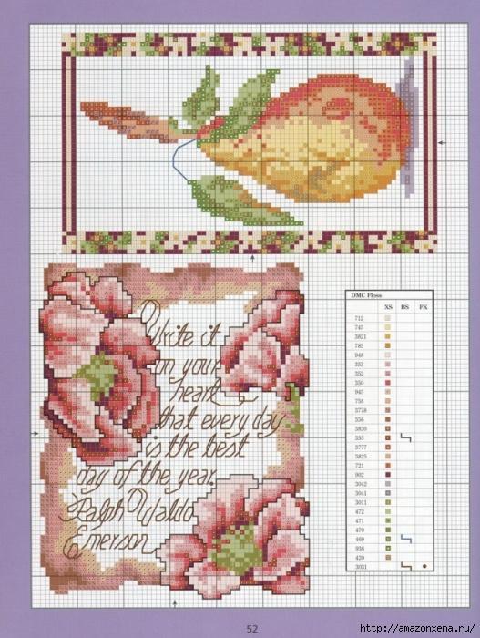 Отличный журнал вышивки Marie Barber - Cross-Stitch Florals (46) (527x700, 334Kb)