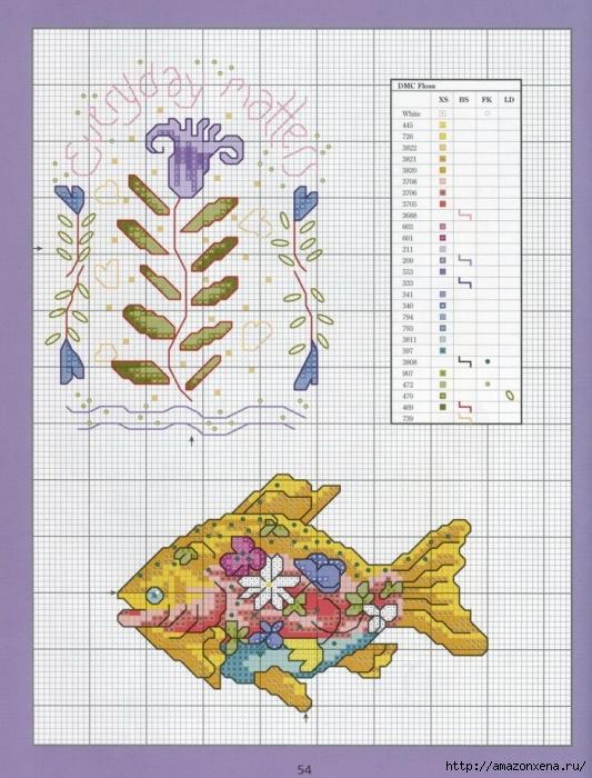Отличный журнал вышивки Marie Barber - Cross-Stitch Florals (48) (533x700, 314Kb)