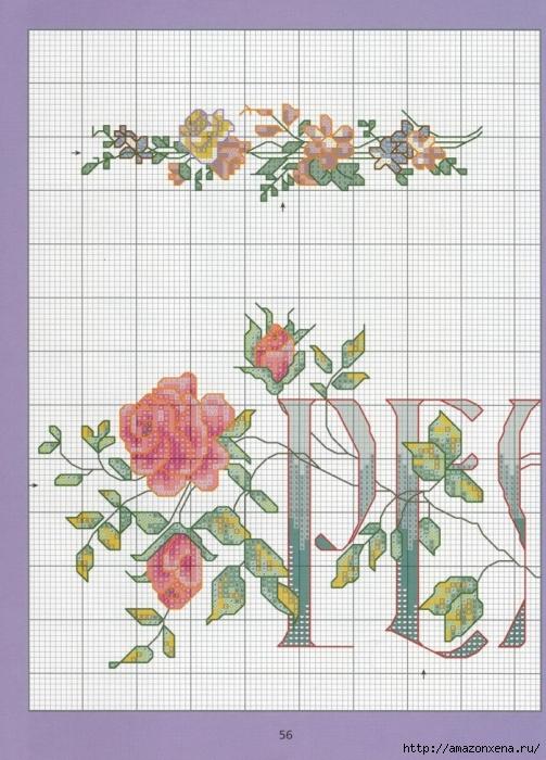 Отличный журнал вышивки Marie Barber - Cross-Stitch Florals (50) (503x700, 296Kb)