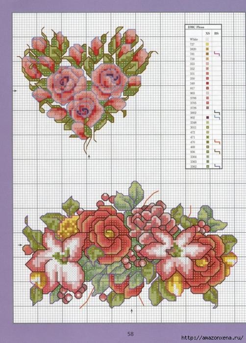 Отличный журнал вышивки Marie Barber - Cross-Stitch Florals (52) (502x700, 323Kb)