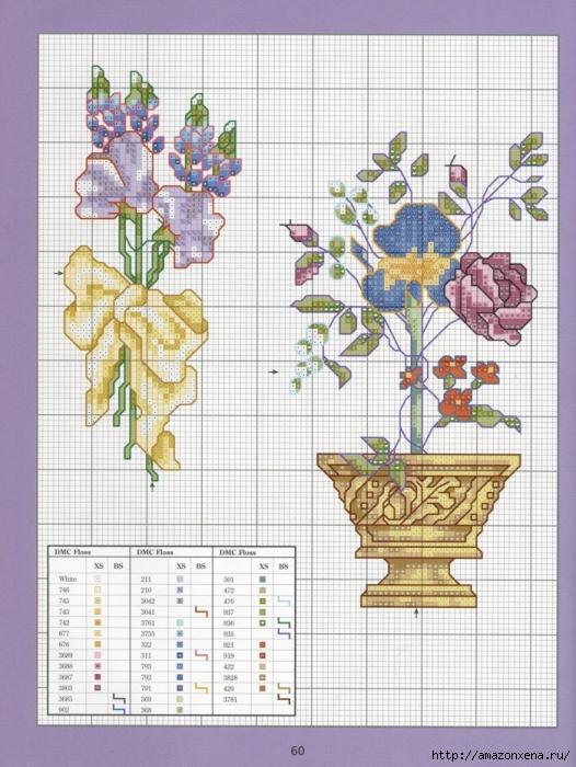 Отличный журнал вышивки Marie Barber - Cross-Stitch Florals (54) (526x700, 306Kb)
