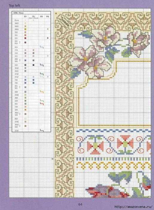 Отличный журнал вышивки Marie Barber - Cross-Stitch Florals (58) (515x700, 310Kb)