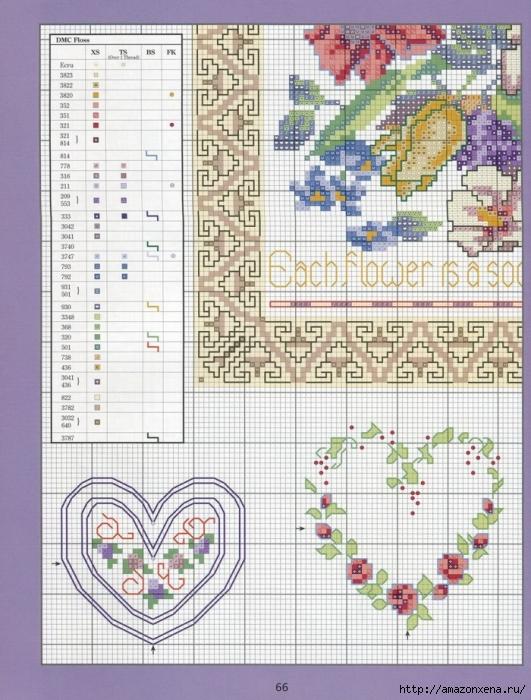 Отличный журнал вышивки Marie Barber - Cross-Stitch Florals (60) (531x700, 334Kb)