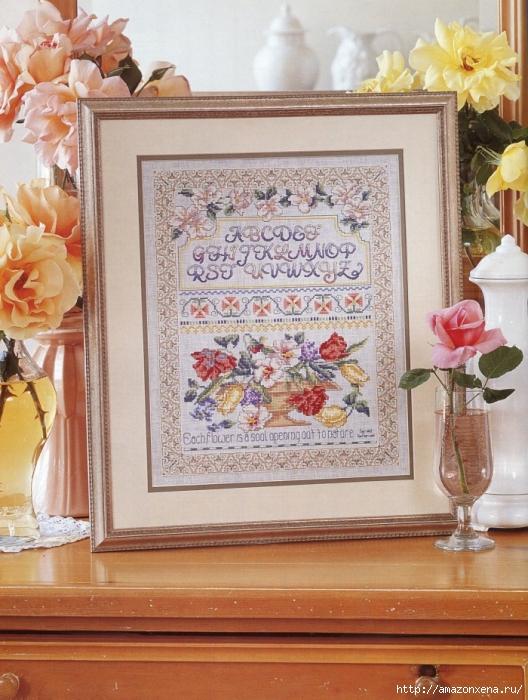 Отличный журнал вышивки Marie Barber - Cross-Stitch Florals (62) (528x700, 323Kb)