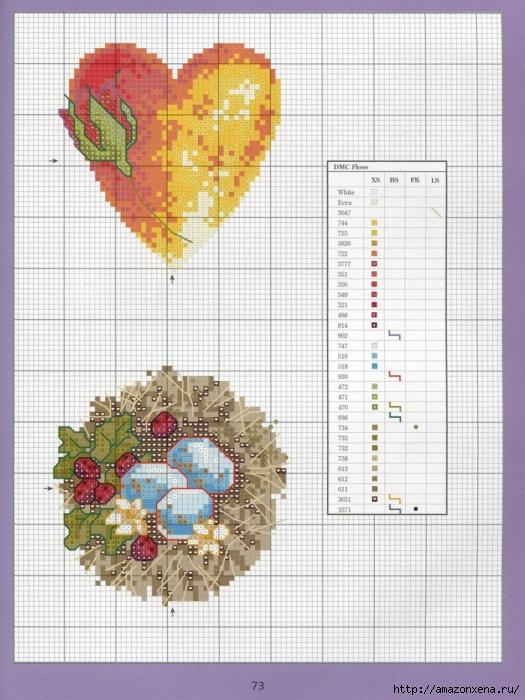 Отличный журнал вышивки Marie Barber - Cross-Stitch Florals (67) (525x700, 288Kb)