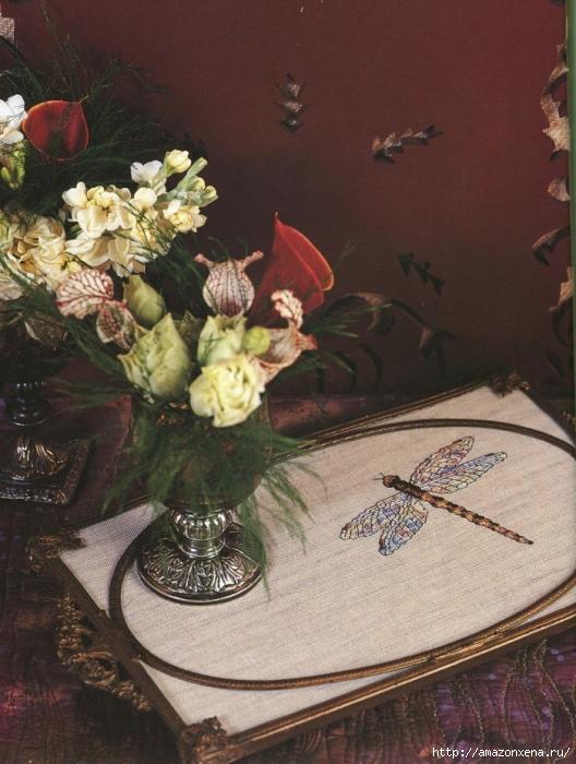 Отличный журнал вышивки Marie Barber - Cross-Stitch Florals (75) (528x700, 294Kb)