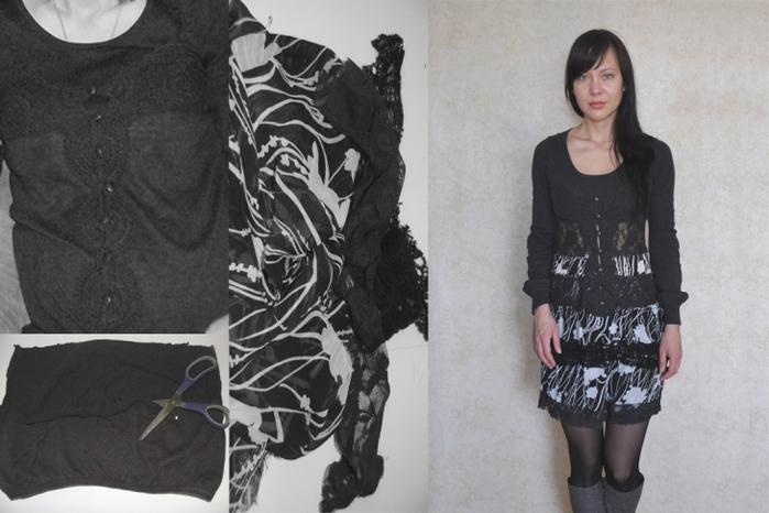 Mark & Julia SS'12.Наипростейшая переделка платья.Наипростейшая переделка платья.И сбоку пуговки.От тельняшки...