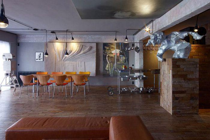 Cтиль лофт в интерьере квартиры от студии OOZE Architects 7 (700x469, 51Kb)