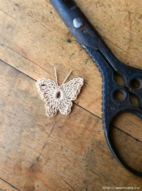 вязание крючком. бабочка (10) (476x640, 281Kb)