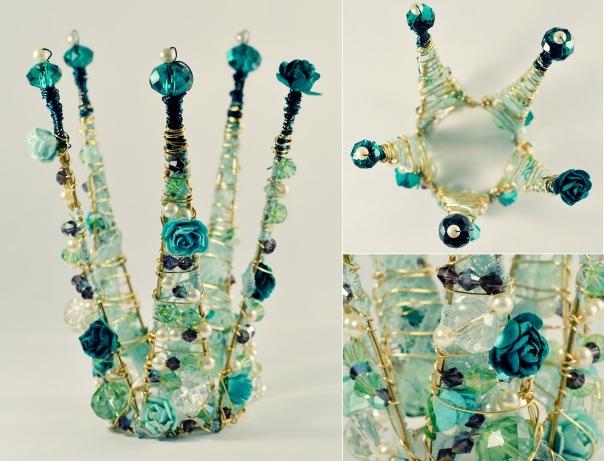 Сделать корону своими руками из проволоки и бусин своими руками 91