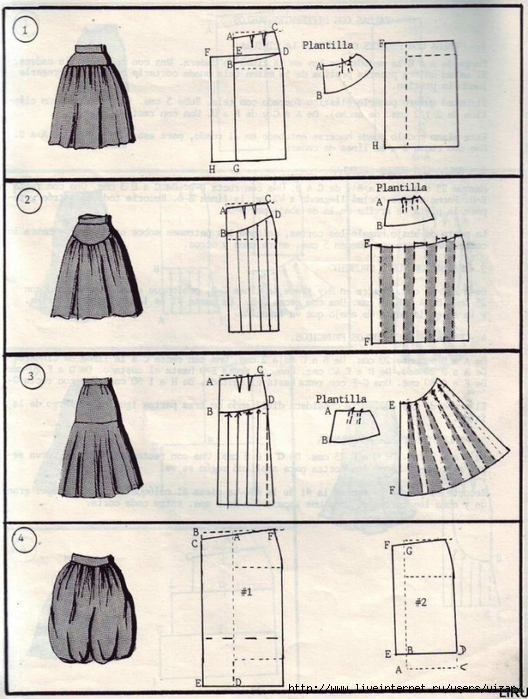 выкройка юбки шотланка: