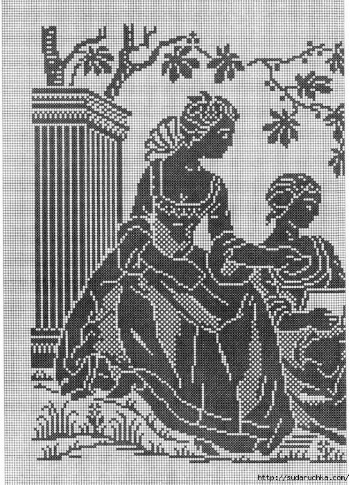 Схемы для филейного вязания и