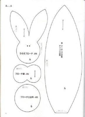 выкройки кроликов (14) (290x400, 13Kb)