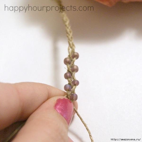 Как своими руками сплести браслет из веревки и бусин (11) (600x600, 120Kb)