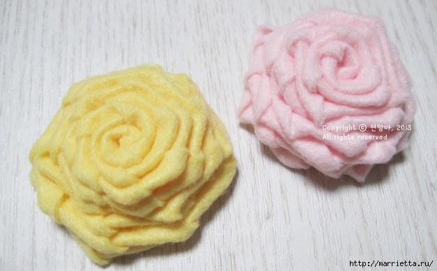 Шьем подставку для компьютерной мыши, из сукна с цветами из фетра (14) (627x390, 122Kb)