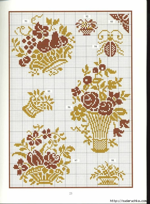 Однотонная вышивка цветы