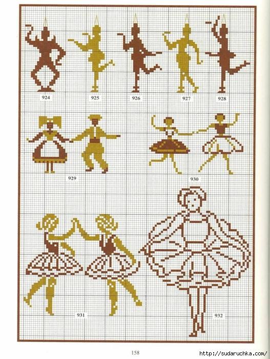 Схемы вышивки крестом миниатюры монохром 96