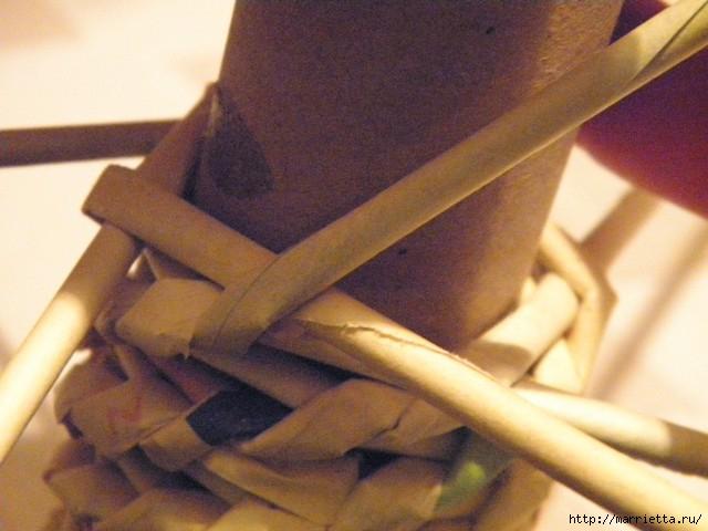 плетение из газет. венок спиральным плетением для пасхального декора (20) (640x480, 143Kb)
