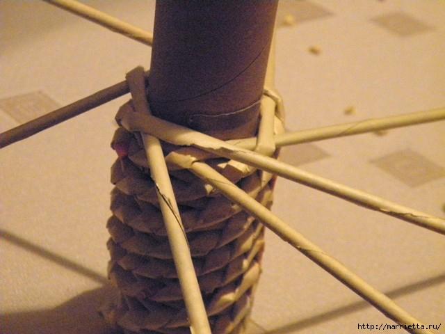 плетение из газет. венок спиральным плетением для пасхального декора (22) (640x480, 140Kb)