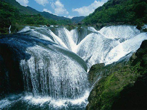 Водопад Жемчужина, Долина Цзючжайгоу, Китай (570x428, 72Kb)